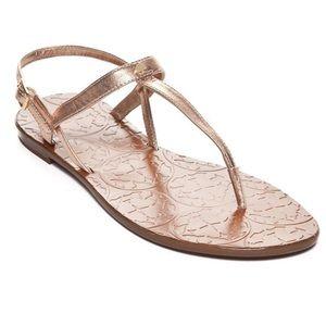 Kate Spade • NWOT Rose Gold T Strap Sandals